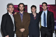 """(L-R) Ronald Bronstein, Josh Safdie, Buddy Duress and Benny Safdie attend """"Heaven Knows What"""" New York Premiere at the Celeste Bartos Theater at the Museum of Modern Art on May 18, 2015 in New York City."""