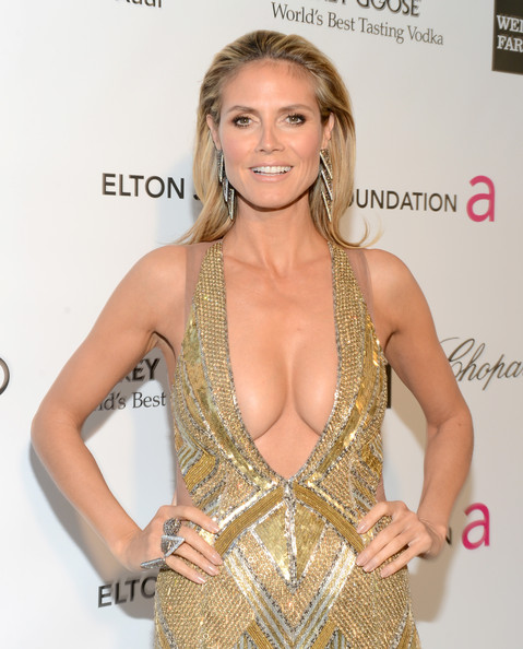 Heidi Klum Pictures - Elton John's Academy Awards Viewing Party ...heidi model
