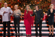 Alfons Schuhbeck (L-R), Carmen Nebel, Romina Power, Al Bano Carrisi and Stefanie Hertel attend the taping of the TV show 'Heiligabend mit Carmen Nebel' on November 27, 2014 in Munich, Germany.