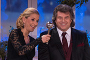 Stefanie Hertel and Andy Borg attend the taping of the TV show 'Heiligabend mit Carmen Nebel' on November 27, 2014 in Munich, Germany.