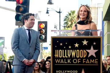 Helen Hunt Maestro Gustavo Dudamel Honored With Star On The Hollywood Walk Of Fame