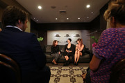 Helena Christensen and Camilla Staerk speak to Edwina McCann and guests during a Q & A at David Jones Elizabeth Street Store on March 10, 2018 in Sydney, Australia.