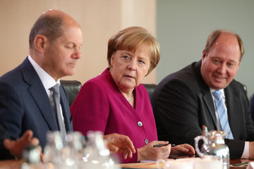 Helge Braun Weekly Government Cabinet Meeting