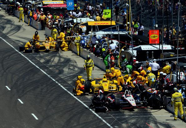 Will Power and Helio Castroneves - 98th Indianapolis 500