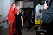 Pat Cleveland and Sylvie Millstein pose backstage at the Hellessy front row during New York Fashion Week: The Shows at Gallery II at Spring Studios on February 8, 2019 in New York City.