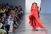 Model Pat Cleveland walks the runway for the Hellessy fashion show during New York Fashion Week: The Shows at Gallery II at Spring Studios on February 8, 2019 in New York City.