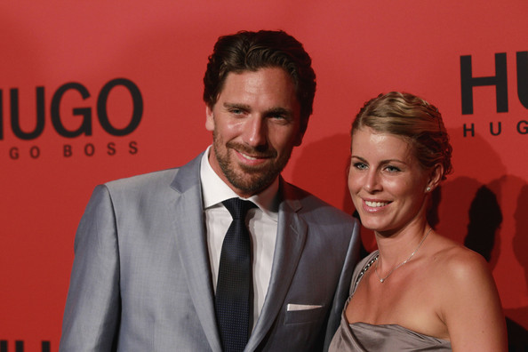 Henrik Lundqvist and Therese Andersson - Hugo Show - Mercedes-Benz Fashion Week Berlin Spring/Summer 2012