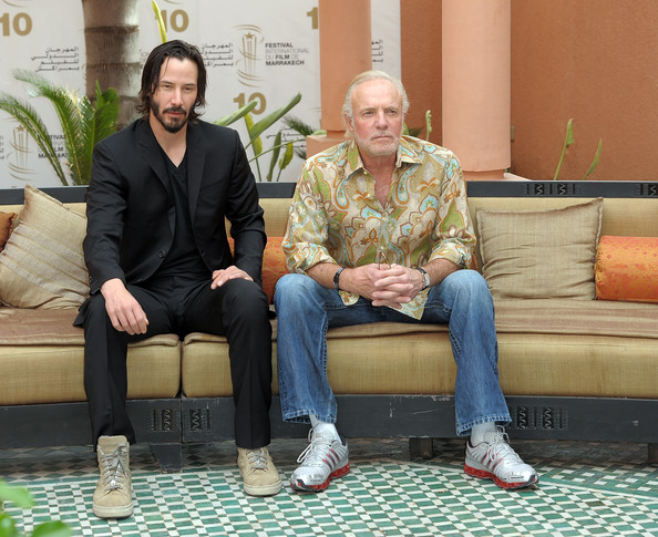 (L-R) Actors Keanu Reeves and James Caan pose for a Photocall during the 10th Marrakech Film Festival on December 4, 2010 in Marrakech, Morocco.