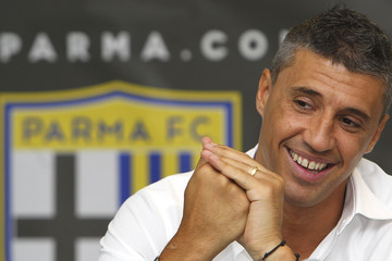 Hernan Crespo FC Parma Training Session