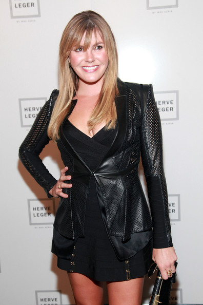 Grace Potter In Herve Leger By Max Azria Backstage Spring 2012 Mercedes Benz Fashion Week