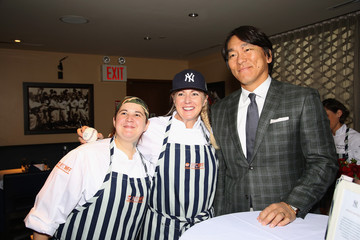 Hideki Matsui Delta Air Lines Presents New York Yankees Pinstripe Brunch Hosted by Josh Capon