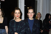 (L-R) Susan Hoecke and Saralisa Volm attend the Hien Le show during the Mercedes-Benz Fashion Week Berlin A/W 2017 at Kaufhaus Jandorf on January 17, 2017 in Berlin, Germany.