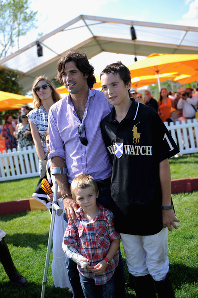 The Sixth Annual Veuve Clicquot Polo Classic - Match [people,community,yellow,event,fun,crowd,grass,tree,t-shirt,child,hilario figueras,nacho figueras,artemio figueras,l-r,jersey city,veuve clicquot polo classic,match]