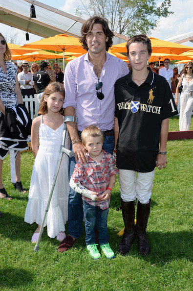 The Sixth Annual Veuve Clicquot Polo Classic - Match [people,community,child,event,family,vacation,recreation,plant,leisure,lawn,aurora figueras,hilario figueras,nacho figueras,artemio figueras,l-r,jersey city,veuve clicquot polo classic,match]