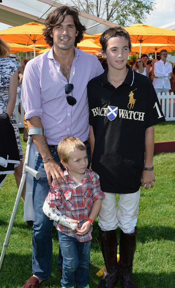 The Sixth Annual Veuve Clicquot Polo Classic - Match [people,product,community,event,recreation,child,family,lawn,hilario figueras,nacho figueras,artemio figueras,l-r,jersey city,veuve clicquot polo classic,match]