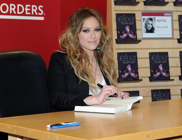 "Hilary Duff Singer Hilary Duff promotes ""Elixir"" at Borders Books & Music, Columbus Circle on October 11, 2010 in New York City."