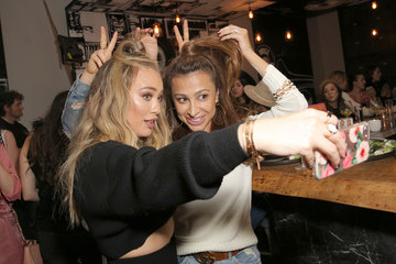 Hilary Duff Hilary and Haylie Duff Host the Launch of Words with Friends 2 at Norah Restaurant