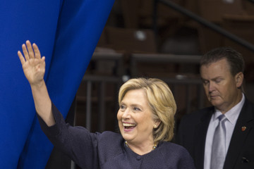 Hillary Clinton Democratic Candidates Attend New Hampshire Democratic Party Convention
