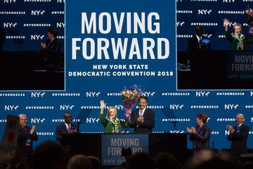 Hillary Clinton Andrew Cuomo Hillary Clinton Addresses The New York State Democratic Convention