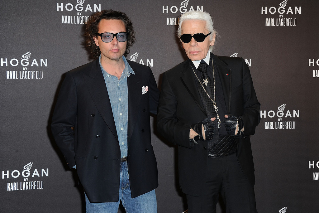 Karl lagerfeld and diego della valle photos photos hogan for Della valle hogan