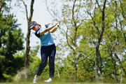 Rikako Morita of Japan hits her tee shot on the 2nd hole during the second round of the Hoken No Madoguchi Ladies at the Fukuoka Country Club on May 12, 2018 in Fukuoka,Japan.