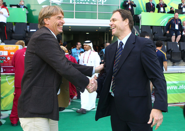 Holger osieck and wolfgang sidka photos photos zimbio afc asian cup quarter final australia v iraq m4hsunfo