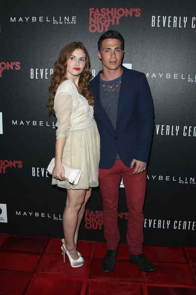 Holland Roden Actors Holland Roden and Colton Haynes arrive at Beverly