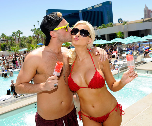 Holly Madison Red Bikini Fourth Of July MGM Vegas In