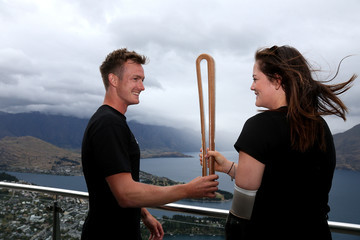 Holly Robinson NZOC Commonwealth Games Queen's Baton Relay in Queenstown