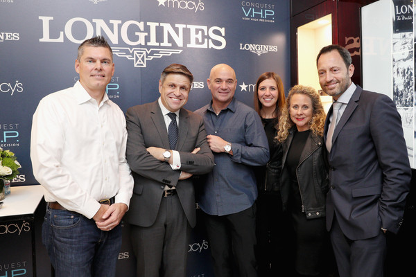 Longines Conquest V.H.P NY Launch With Andre Agassi
