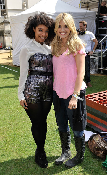 Holly Willoughby (L-R) Lianne La Havas and Holly Willoughby pictured at House Festival, Chiswick House & Gardens on July 5, 2012 in London, England. The festival from the Soho House Group supports The Chiswick House & Gardens Trust and WarChild.