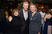 (L-R) Amy Pascal, Will Ferrell, and Greta Gerwig attend the Hollywood Foreign Press Association and The Hollywood Reporter Celebration of the 2020 Golden Globe Awards Season and Unveiling of the Golden Globe Ambassadors at Catch on November 14, 2019 in West Hollywood, California.