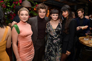 (L-R) Florence Pugh, Joe Keery, Ginnifer Goodwin, and Jameela Jamil attend the Hollywood Foreign Press Association and The Hollywood Reporter Celebration of the 2020 Golden Globe Awards Season and Unveiling of the Golden Globe Ambassadors at Catch on November 14, 2019 in West Hollywood, California.
