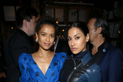 (L-R) Gugu Mbatha-Raw and Janina Gavankar attend the Hollywood Foreign Press Association and The Hollywood Reporter Celebration of the 2020 Golden Globe Awards Season and Unveiling of the Golden Globe Ambassadors at Catch on November 14, 2019 in West Hollywood, California.
