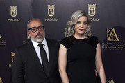 Spanish director Alex de la Iglesia and actress Carolina Bang attend 'Hollywood - Madrid' cocktail at the Casino de Madrid on October 9, 2017 in Madrid, Spain.