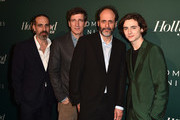 (L-R) Marco Morabito, Peter Spears, Luca Guadagnino, and Timothee Chalamet Richard Jenkins attend the Hollywood Reporter's 6th Annual Nominees Night at CUT on February 5, 2018 in Beverly Hills, California.