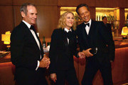 (L-R) Bo Welch, Catherine O'Hara and Richard E. Grant attend The Hollywood Reporter's 7th Annual Nominees Night presented by Mercedes-Benz, Century Plaza Residences, and Heineken USA at CUT on February 4, 2019 in Beverly Hills, California.