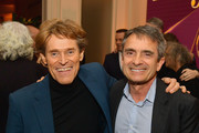 Willem Dafoe and Stephen Galloway attend The Hollywood Reporter's 7th Annual Nominees Night presented by Mercedes-Benz, Century Plaza Residences, and Heineken USA at CUT on February 4, 2019 in Beverly Hills, California.