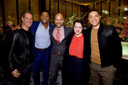 (From 2nd ) Michael Strahan, Keegan-Michael Key, Elisa Pugliese, and Trevor Noah attend The Hollywood Reporter's 9th Annual Most Powerful People In Mediaat The Pool on April 11, 2019 in New York City.