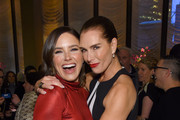 Sophia Bush (L) and Brooke Shields attend The Hollywood Reporter's 9th Annual Most Powerful People In Mediaat The Pool on April 11, 2019 in New York City.