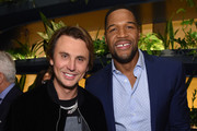 Jonathan Cheban (L) and Michael Strahan attend The Hollywood Reporter's 9th Annual Most Powerful People In Mediaat The Pool on April 11, 2019 in New York City.
