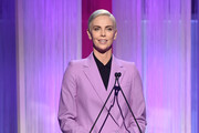Actor-producer Charlize Theron speaks onstage during The Hollywood Reporter's Power 100 Women in Entertainment at Milk Studios on December 11, 2019 in Hollywood, California.
