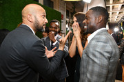 (L-R) Keegan-Michael Key, William Jackson Harper, D'Arcy Carden and Sterling K. Brown attend The Hollywood Reporter & SAG-AFTRA 3rd annual Emmy Nominees Night presented by Heineken and Anastasia Beverly Hills at Avra Beverly Hills Estiatorio on September 20, 2019 in Beverly Hills, California.