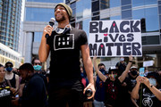 Kendrick Sampson participates in the Hollywood talent agencies march to support Black Lives Matter protests on June 06, 2020 in Beverly Hills, California.