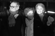 Image has been converted to black and white.)  (L-R) Festival director Dieter Kosslick, director Liliana Cavani and Charlotte Rampling arrive for the Hommage Charlotte Rampling Honorary Golden Bear award ceremony during the 69th Berlinale International Film Festival Berlin at Berlinale Palace on February 14, 2019 in Berlin, Germany. Rampling is this years recipient of the Honorary Golden Bear Award of the Berlinale.
