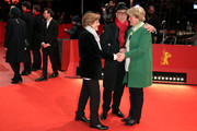 (L-R) Director Liliana Cavani, festival director Dieter Kosslick and  Federal Commissioner for Culture and Media, Monika Gruetters arrive for the Hommage Charlotte Rampling Honorary Golden Bear award ceremony during the 69th Berlinale International Film Festival Berlin at Berlinale Palace on February 14, 2019 in Berlin, Germany. Rampling is this years recipient of the Honorary Golden Bear Award of the Berlinale.