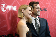 "Claire Danes and Hugh Dancy attend the ""Homeland"" Season 8 Premiere at Museum of Modern Art on February 04, 2020 in New York City."