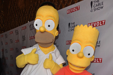 Homer Simpson Bart Simpson REVOLT and NCTA Celebration of Cable