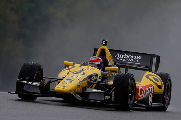 Tony Kanaan of Brazil drives the #10 Glad Target Chip Ganassi Racing Dallara Chevrolet during qualifying for the Verizon IndyCar Series Honda Indy 200 at Mid-Ohio Sports Car Course on August 2, 2014 in Lexington, Ohio.