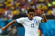 Andy Najar of Honduras controls the ball during the 2014 FIFA World Cup Brazil Group E match between Honduras and Switzerland at Arena Amazonia on June 25, 2014 in Manaus, Brazil.
